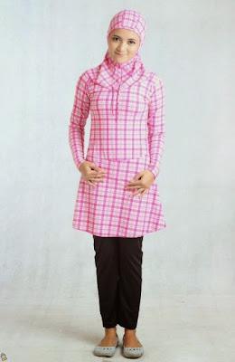 Desain Baju Muslim Pantai Untuk Remaja Terbaru