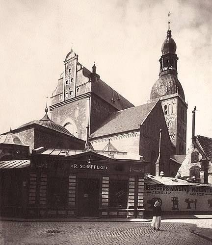Начало 1930-х годов. Рига. Магазин Шефлера