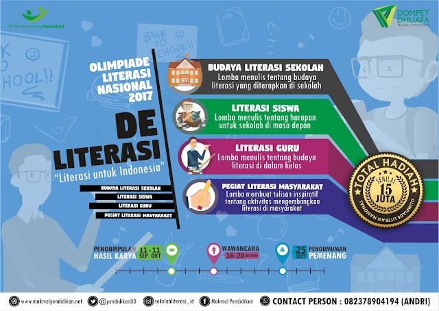 Ikuti Olimpiade Literasi Nasional 2017 Berhadiah 15 Juta