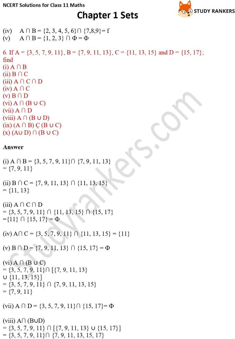 NCERT Solutions for Class 11 Maths Chapter 1 Sets 11