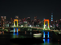 Rainbow Bridge at night from Odaiba