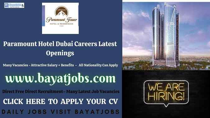 Paramount Hotel Dubai Careers Latest Openings