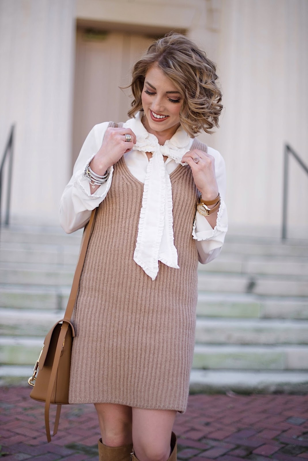 Madewell Sleeveless Sweater Dress - Fall Fashion on Something Delightful Blog
