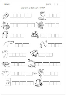 Hipótese de Escrita Silábica Alfabética - Escreva o nome da figura 13