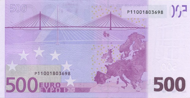 Currency of the Eurozone 500 Euro note