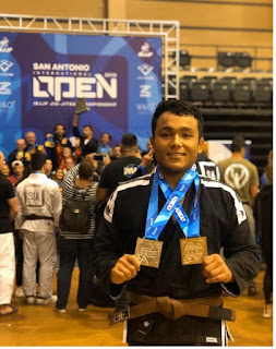 Atleta de Miracatu é medalhista no Open de Jiu-jitsu no Texas