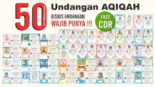 Free 50 Undangan Aqiqah CDR
