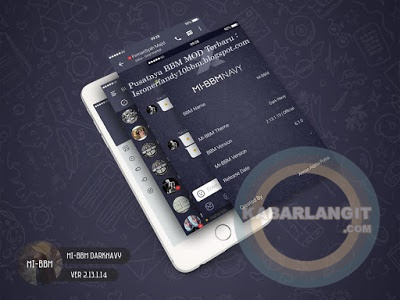 Screenshoot BBM Mod Dark Navy