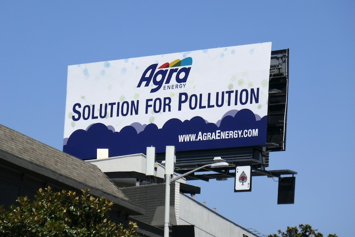 Solution for Pollution Agra Energy billboard