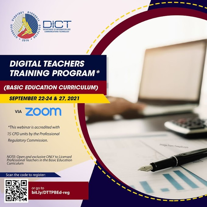 4-Day Digital Training for Teachers with 15 CPD Units by DICT | September 22-23-24,27 | Register Now