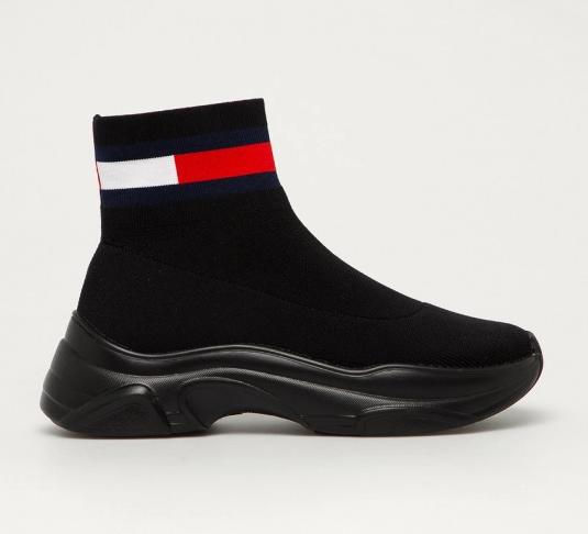 Tommy Jeans - Pantofi sport negri fara sireturi din material textil