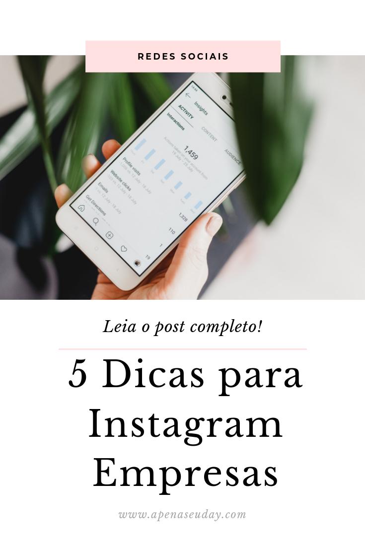 5 dicas preciosas para quem usa o Instagram negócios para divulgação da seu negócio. Saiba mais agora!