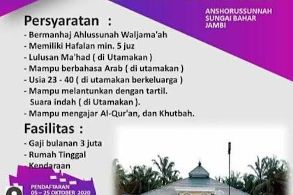 Lowongan Pekerjaan Imam Masjid di Jambi