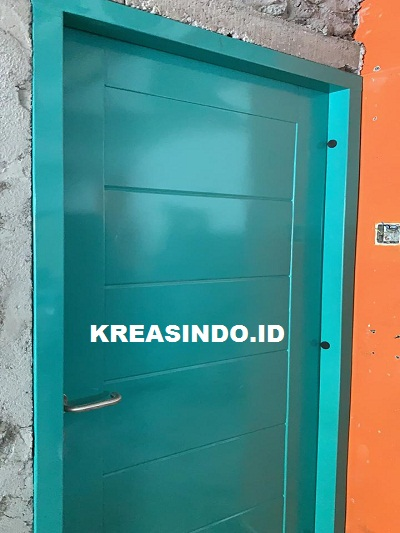 Pintu Panel Besi untuk Rumah pesanan Bu Olivia Toko Semesta Jaya Senen Jakarta Pusat