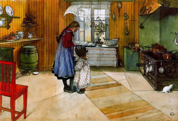 Carl Larsson 1853-1919 | Swedish Realist painter | The Arts and Crafts Movement