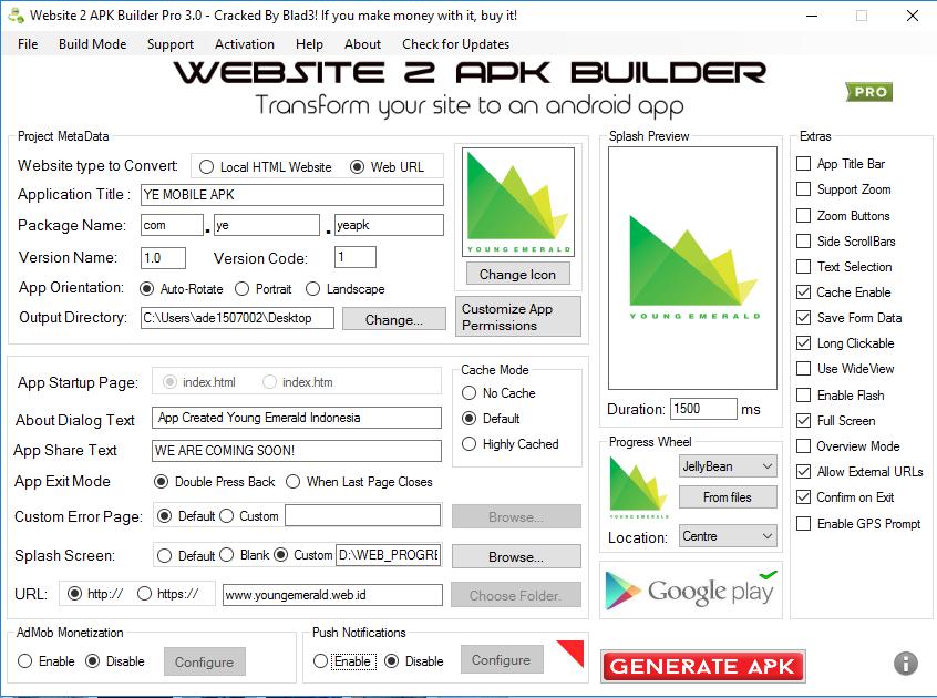 WEB TO APK - Membangun aplikasi web berbasis android apk