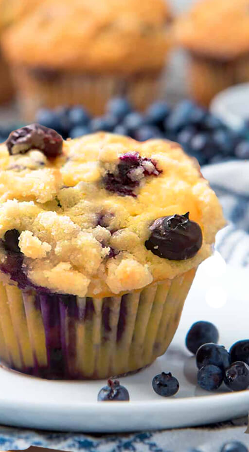 Almond Flour Blueberry Muffins No Sugar - Almond Flour Blueberry Muffins