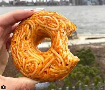Spaghetti donut,resepi spaghetti donut,spaghetti donut viral,resepi,resepi spaghetti sedap,resepi donut lembut