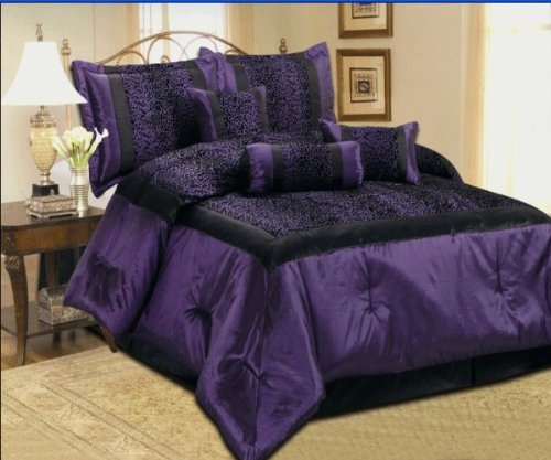 Purple Zebra, Cheetah and Leopard Print Comforter ...