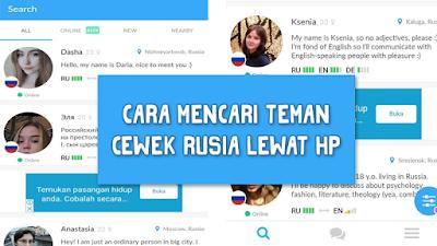 Cara Mencari Teman Cewek Rusia Lewat HP
