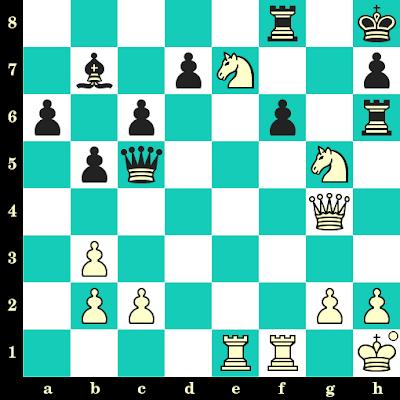 Les Blancs jouent et matent en 2 coups - J Ascencios vs A Hadjikipris, Tel Aviv, 1964