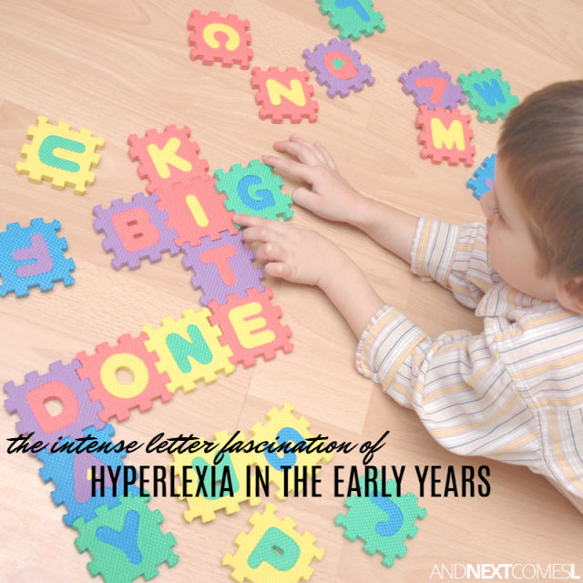 Toddlers who can read and are obsessed with letters and how hyperlexia looks in the early years