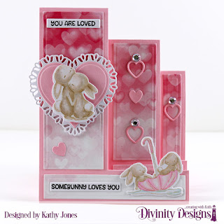 Stamp/Die Duos: Somebunny Custom Dies: Sentiment Strips, Triple Step with Layers, Mini Tags, Layering Hearts, Tulip Heart Paper Collection: Sweet Hearts
