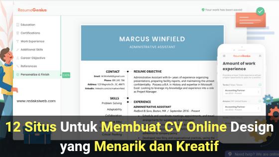 12 Situs Untuk Membuat Cv Online Design Yang Menarik Dan Kreatif