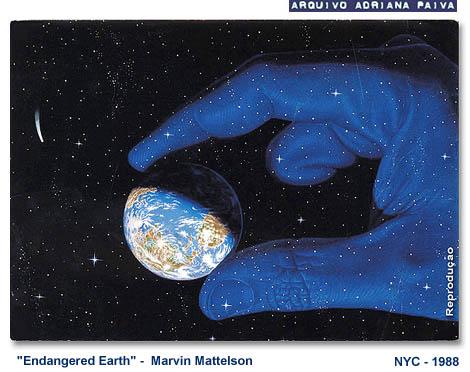 Endangered Earth, 1988 - Autor : Marvin Mathelson . Reprodução - Cartão postal / Arquivo Adriana Paiva