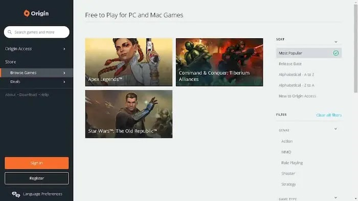 Legal and Free PC Game Download Sites