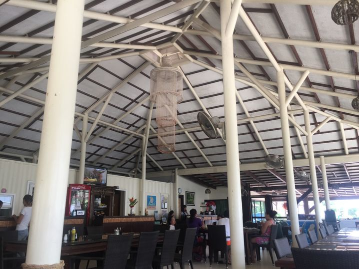 The interiors of Chloe Café in Anika Island Resort