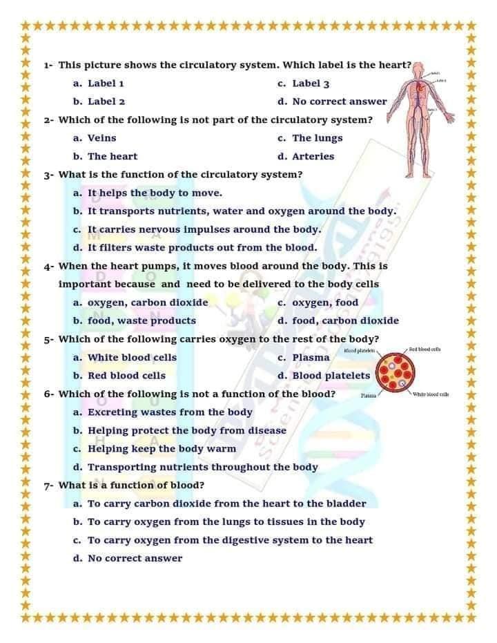 """مراجعة علوم لغات """"Science"""" للصف الخامس الترم الثاني أسئلة إختيار من متعدد بالإجابات  2"""