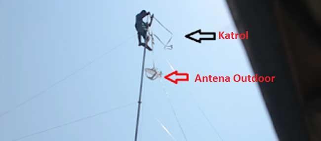 Praktek Mendirikan Antena Wifi Monopole 20 M