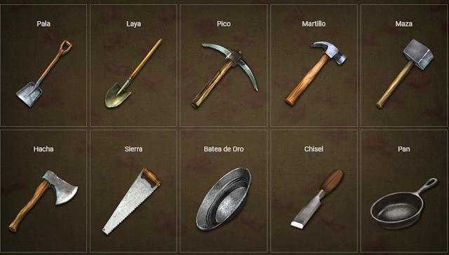 Instrumentos o herramienta en Prospectors