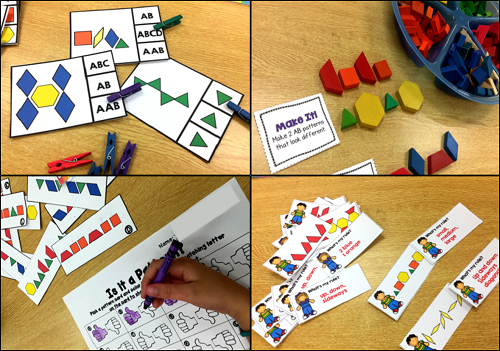 Patterning Centers - students will identify, create and extend patterns as well as solve patterning problems in these fun and engaging patterning centers for K-2.