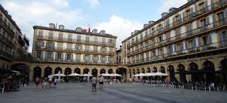 Casco antiguo de San Sebastián.