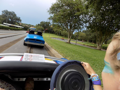 Driving the Tomorrowland Speedway