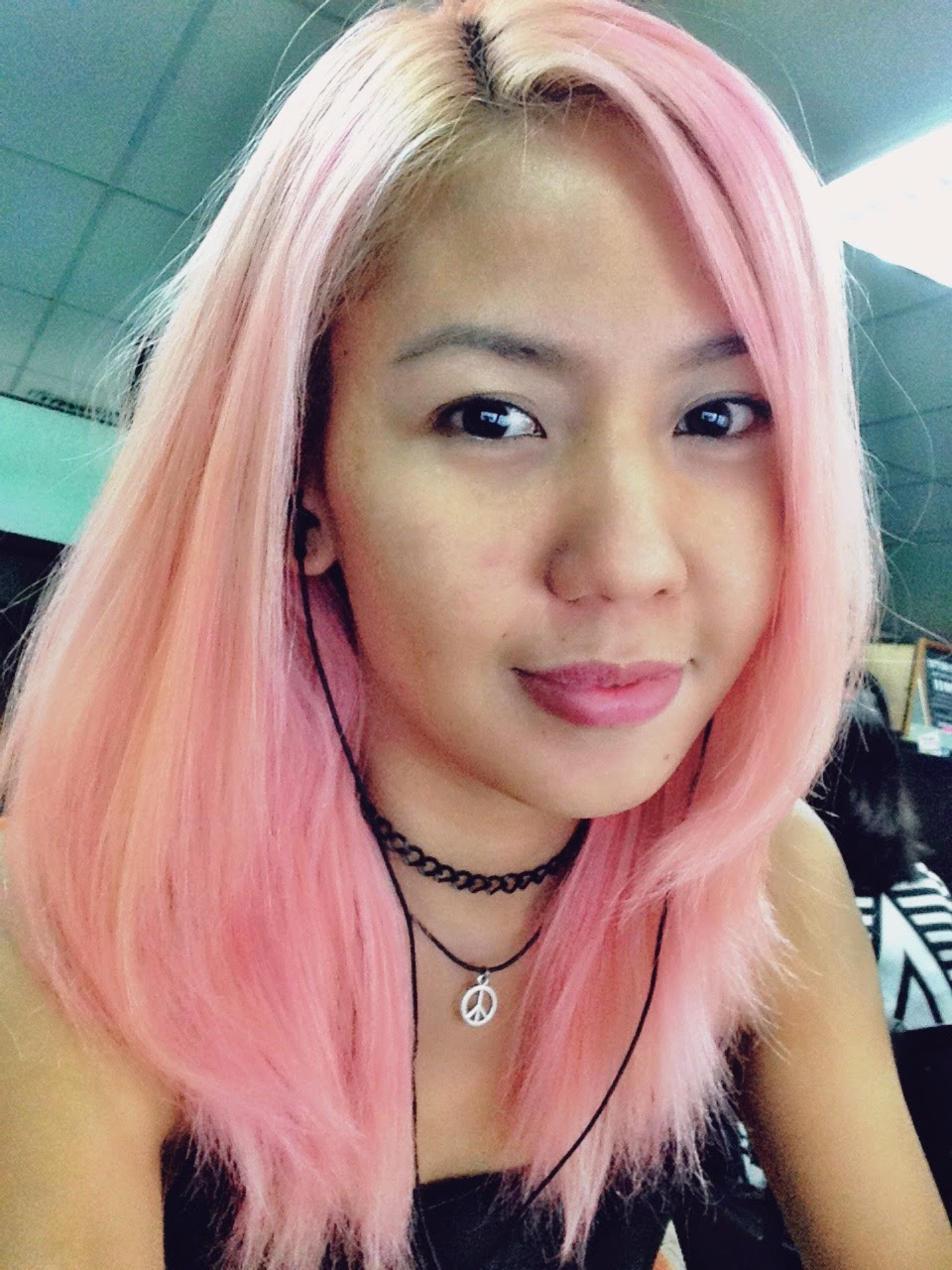 Manic Panic Cotton Candy Pink On Unbleached Hair