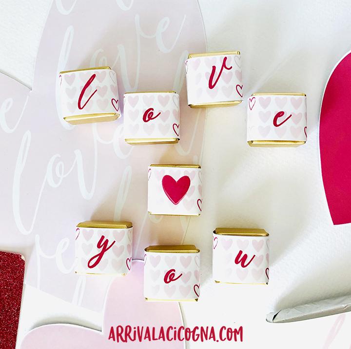 cioccolatini personalizzati per san valentino