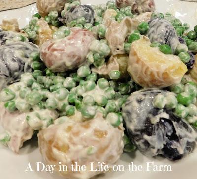 Warm New Potato and Pea Salad
