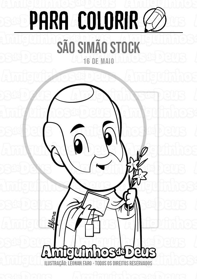 São Simão Stock desenho para colorir