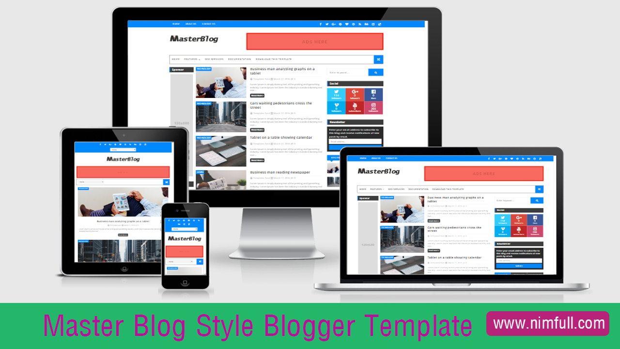 Master Blog Style Blogger Template For Your Blog Free Download