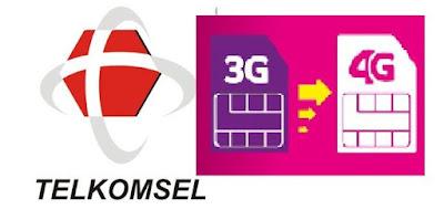 Saat ini jaringan tercepat dan paling lancar berada pada jaringan  Bagaimana cara upgrade Jaringan Telkomsel 3G ke 4G