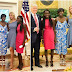Pres. Trumps daughter, Ivanka speaks highly about meeting two Chibok girls at the White House (Photos)