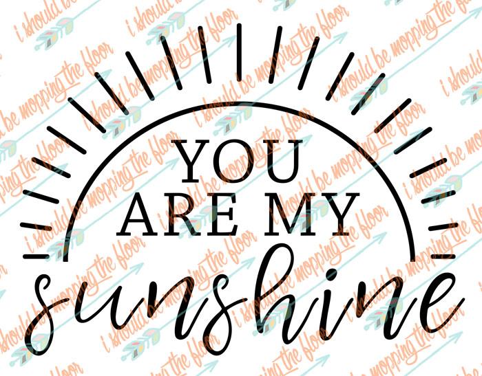 Free You are My Sunshine SVG Design