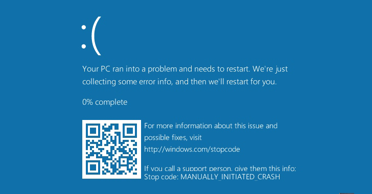Windows 10 Blue Screen of Death Gets QR Code