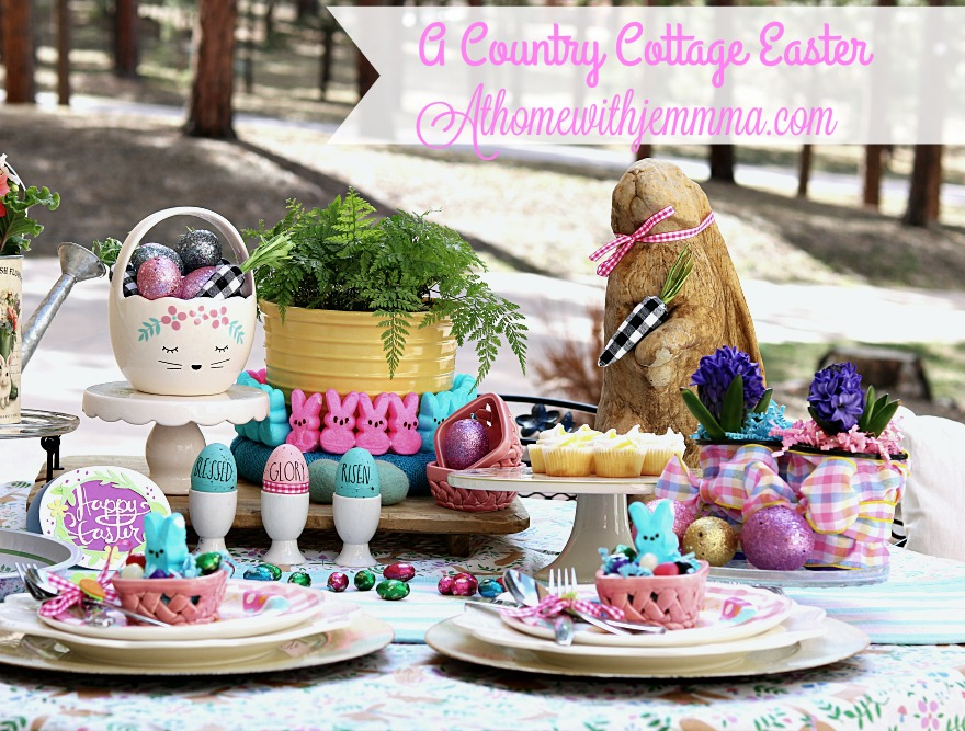 Easter, tablescape, picnic, Spring, colorful, athomewithjemma