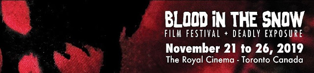 blood in the snow festival banner