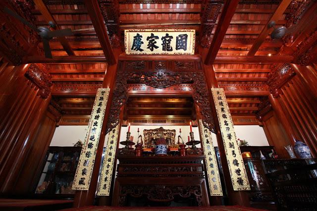nội thất nhà gỗ 5 gian