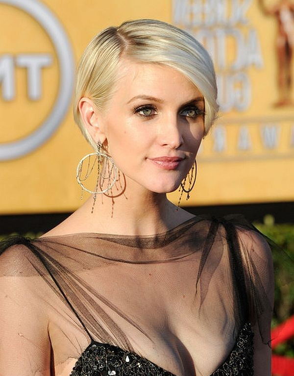 Layered, Golden, Sleek Razor Cut with Bangs - Ashlee ...